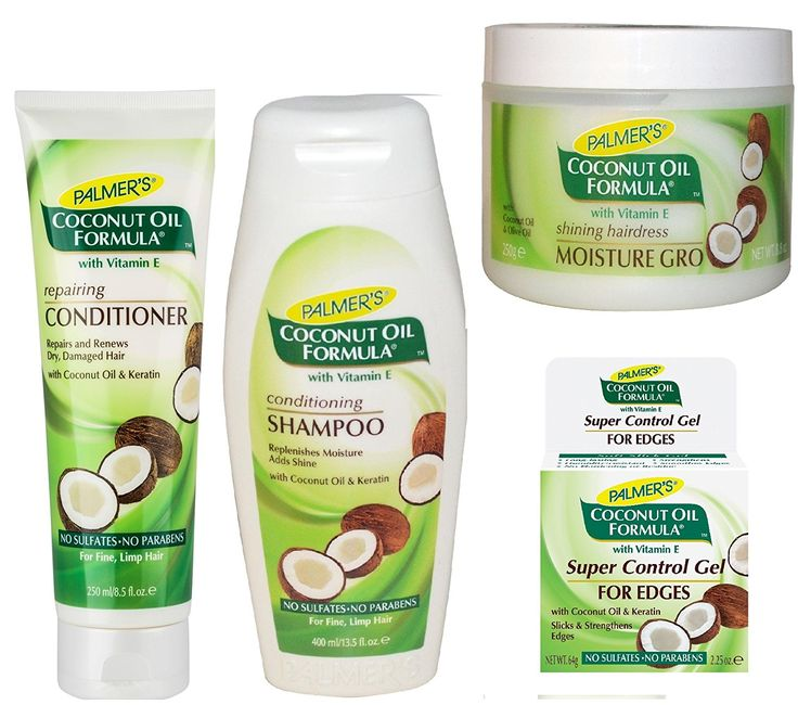 Palmer's Coconut Oil Formula 4pcs Set (Conditioning Shampoo, Repairing Conditioner, Moisture Gro Hairdress, and Super Control Gel for Edges) Plus 1 Free EYE Pencil >>> You can get additional details at the image link.
