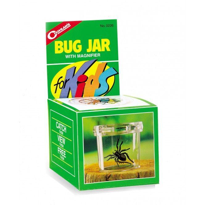 Box att fånga småkryp i som gör upptäcktsfärden ännu mer spännande. Inbyggda lufthål och förstoringsglas i locket.