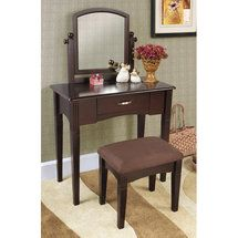 espresso vanity set with bench. 3 Piece Vanity Set in Espresso 15 best Ideas images on Pinterest  Bedroom mirrors