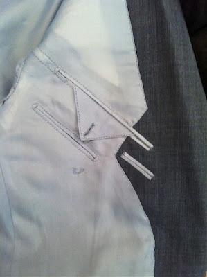 Henri Urban Pocket, Paris Facing and lining inside tailored jacket.