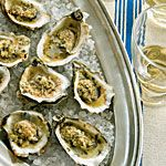 broiled oysters with parm-garlic butter