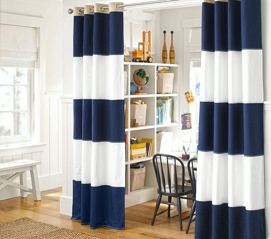 Rugby Blackout Curtain With Images Pottery Barn Kids