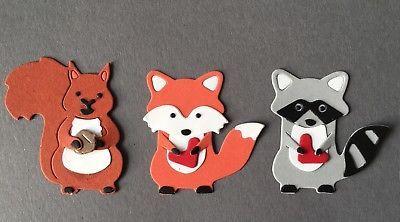 Framelits Stanzformen Fuchs Eichhörnchen Waschbär Foxy Friends Big Shot