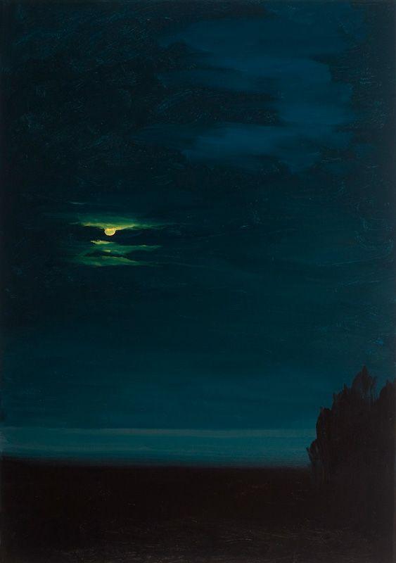 "Michael Brophy - ""Night Portrait: Moon"", 2012 - Oil on canvas"