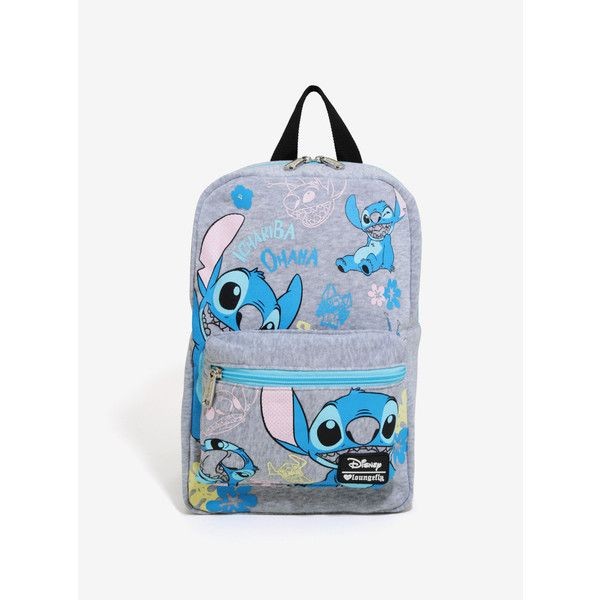 Disney Lilo & Stitch Jersey Mini Backpack ($24) ❤ liked on Polyvore featuring bags, backpacks, mini bags, backpack bags, pattern bag, padded bag and knapsack bag