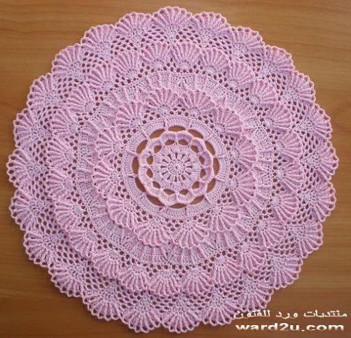 Juegos De Baño A Gancho:carpetas tejidas al crochet on Pinterest
