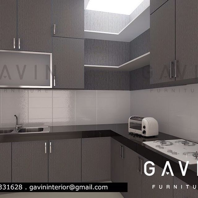 Kitchen Set Minimalis: Kitchen Set Di Taman Semanan Jakarta Barat Finishing HPL