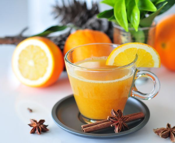 Apfel-Orangen-Punsch mit Zimt und Nelken ohne Zucker
