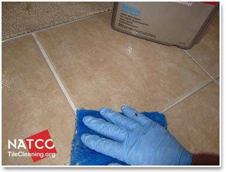 How To Clean A Ceramic Tile Floor And Grout Cleaning
