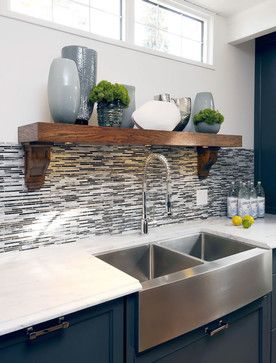 Contemporary Kitchen by Saskatoon Interior Designers & Decorators Atmosphere Interior Design Inc.