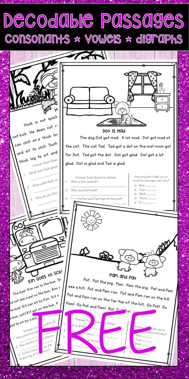 These Free Fully Decodable Reading Passages Are Perfect Activities For Kindergarten Or First Grade St Reading Passages First Grade Reading Kindergarten Reading [ 1471 x 736 Pixel ]