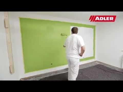 Wände farbig streichen - YouTube