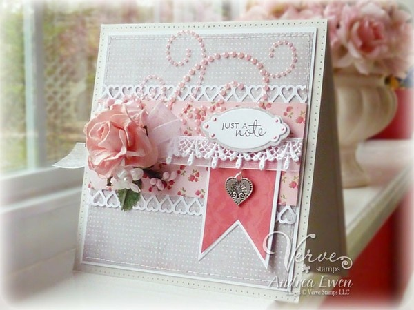 pearls and lace: Design Inspiration, Cards Ideas, Beautiful Cards, Cards Scrapbook, Shabby Chic, Handmade Cards, Andreaewen Galleries, Cards Inspiration, Paper Crafts