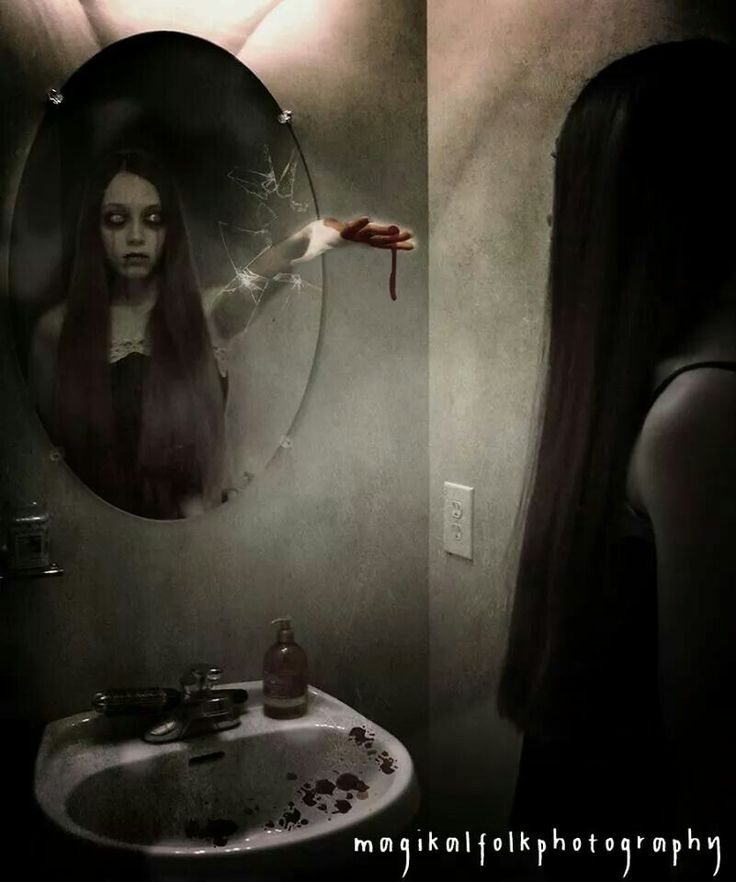 Картинки страшилки зеркало