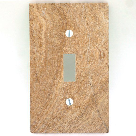 3d Printed Maxi Metal Travertine Pattern Switch Plate Cover