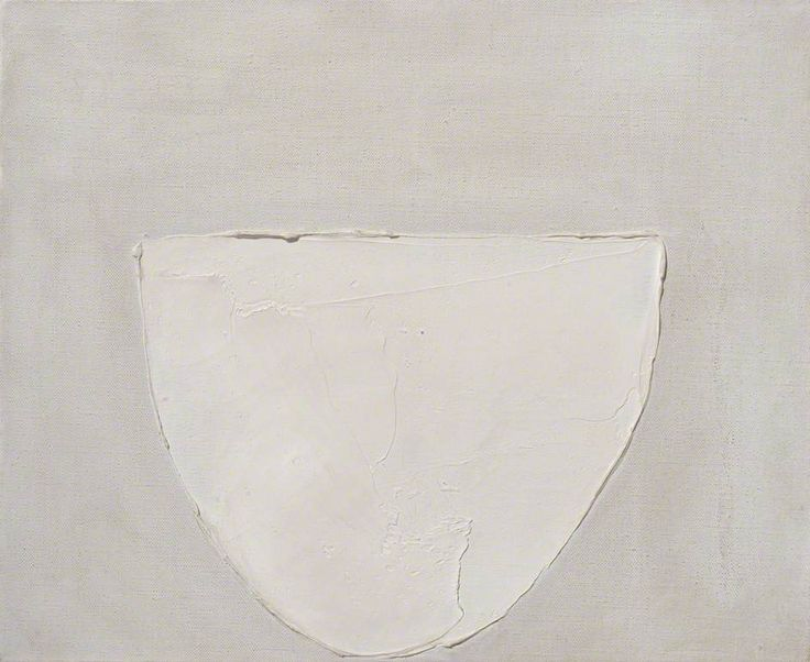 Bowl (White on Grey), William George Scott, 1962