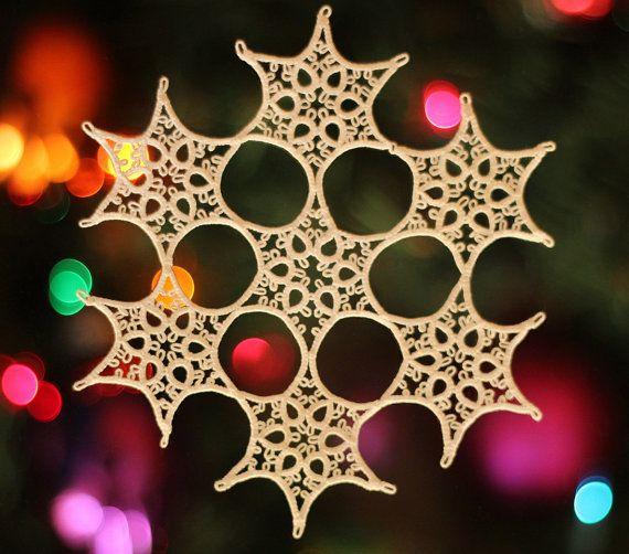 Snowballs Tatting Pattern PDF Snowflake lace by TattingPoints
