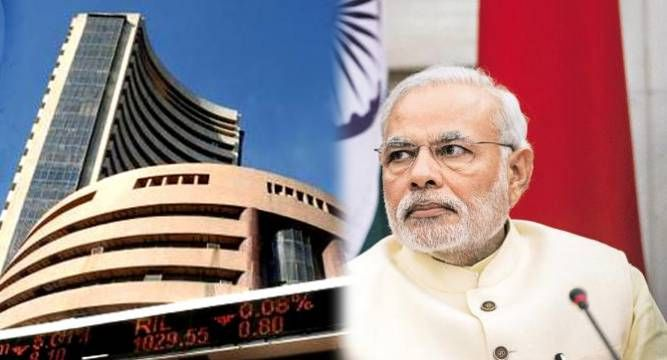 BSE #Sensex close to giving up gains since PM #Modi came to power