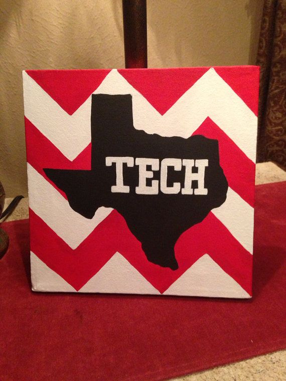Texas Tech University Chevron HandPainted by MadebyMeaganCanvases, $30.00 @Holly Hanshew Hutton could you make something like this?! If so how much cause I would love 2!