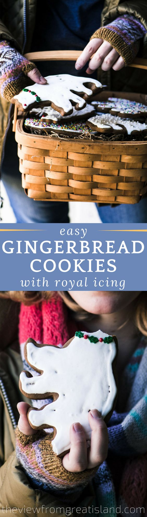 Easy Gingerbread Cookies with Royal Icing ~ it's that time of year and nothing gets me in the mood quicker than baking up a batch of gingerbread cookies!