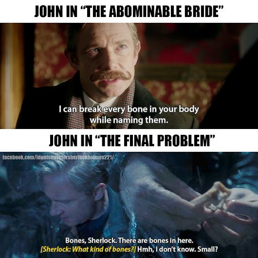 That's really cute, because the abnormal bride happened in Sherlocks head so he thinks john is better then he actually is