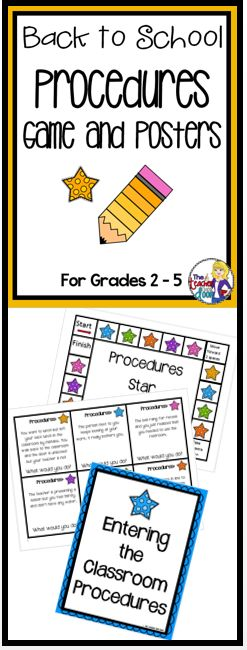 This 42 page Back to School packet comes with a Classroom Procedures Board Game (to practice classroom procedures using scenarios) , a set of 19 Procedure Posters, an extensive classroom procedure sample (The Teacher Next Door's) and detailed teacher notes. Everything you need is here to help your students internalize your classroom rules and procedures. Teaching the kids your classroom procedures sets the foundation for everything else in the year. Great reinforcement to start the year…