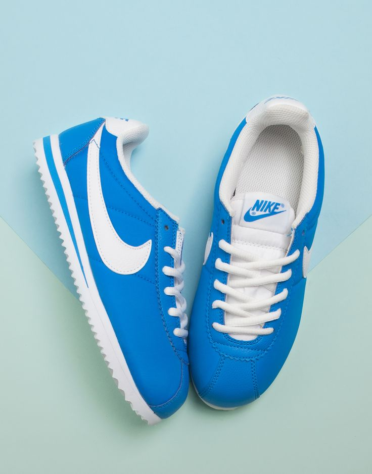 promo code 357dc 762a8 low cost vintage 80s blue nike cortez running shoes swoosh 4