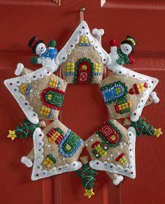 Gingerbread House Bucilla Wreath Kit