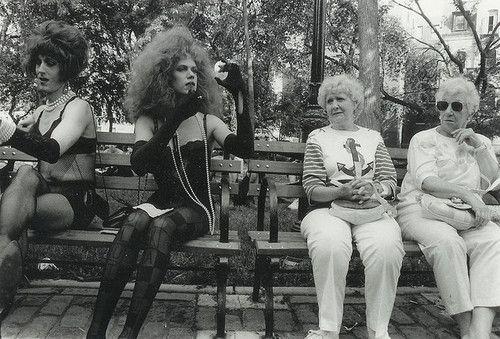 Drag queens and grannies, diane arbus
