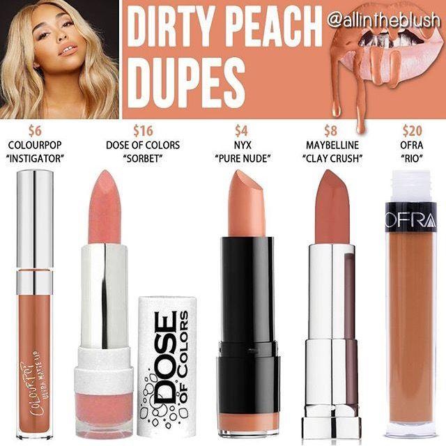 Kylie Jenner lip kit dupe Dirty peach