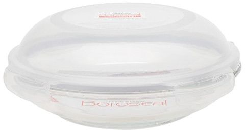 Boroseal II Heat Resistant Round Glass Container with Lid