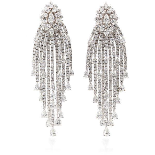 Yeprem Fall/Winter 2018 | Moda Operandi (90000 PAB) ❤ liked on Polyvore featuring jewelry, earrings, chandelier jewelry, diamond earrings, chandelier earrings, earring jewelry and diamond jewelry