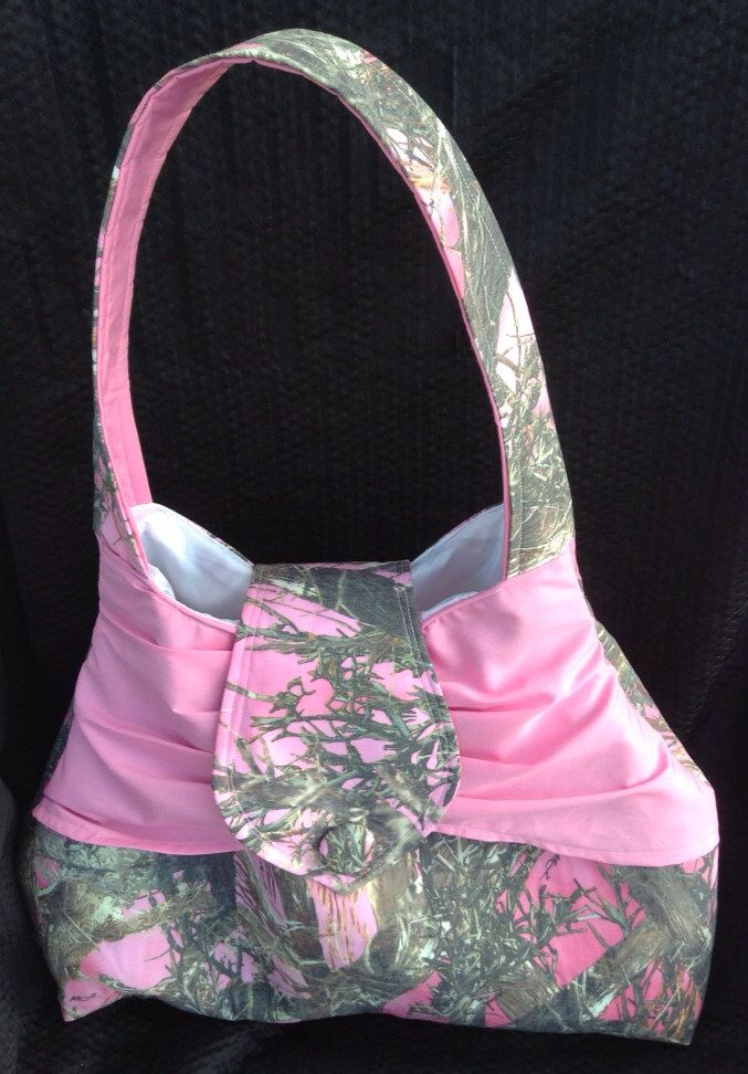 Pink Camouflage Purse - pinned by pin4etsy.com