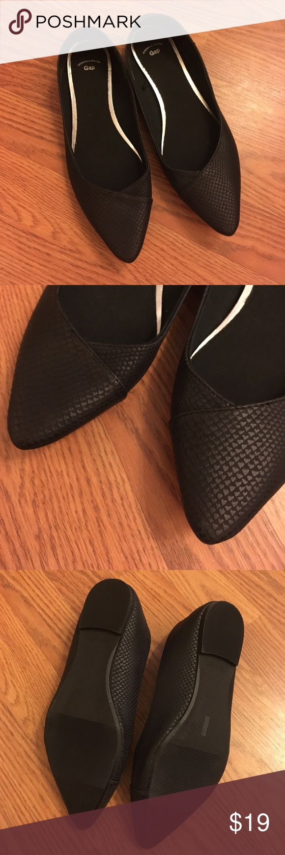 Gap Black Snakeskin Printed Pointy Flats New without tags or box GAP Shoes Flats & Loafers