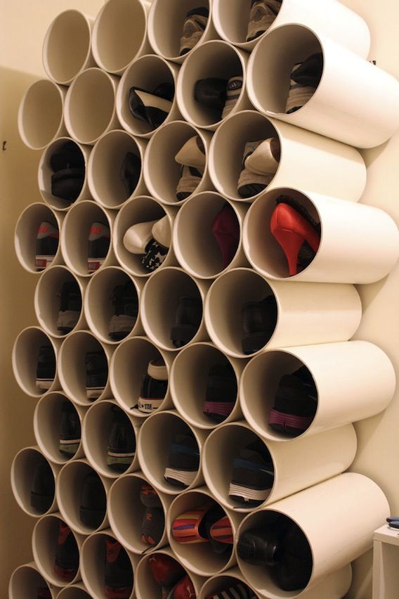 pvc pipe shoe storage since i wrote the column which talks about making shoe storage