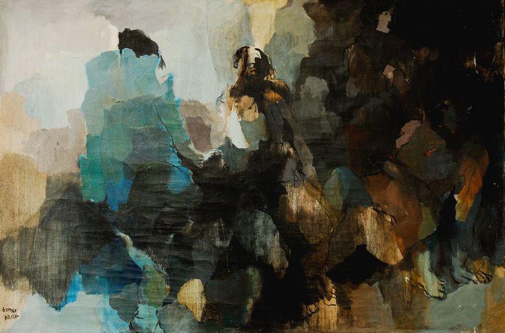 Composición con Figura N°6 - Óleo sobre tela