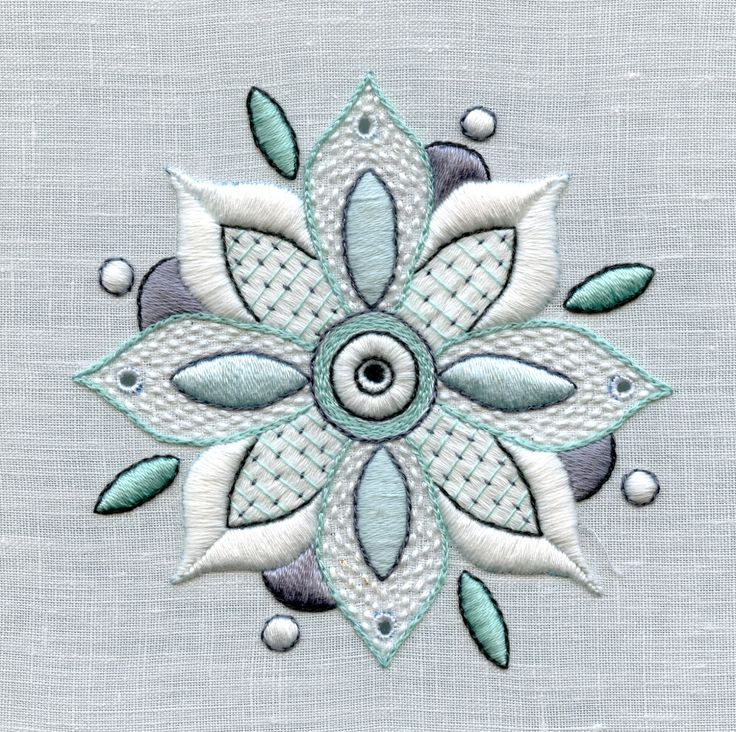 A Complete Lesson In Whitework kit:  Flower Mandala by TRISHBURREMBROIDERY on Etsy https://www.etsy.com/listing/222112607/a-complete-lesson-in-whitework-kit