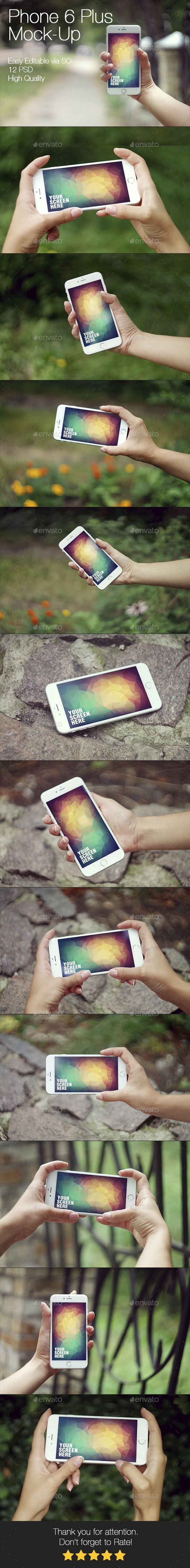 iPhone 6 Plus Mockup Template #mockup #design Download: http://graphicriver.net/item/phone-6-plus-mockup/12616987?ref=ksioks
