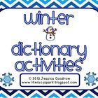 This product includes five winter themed dictionary activities for grades 1-4. (All activities require knowledge of ABC order to at least the 2nd a...