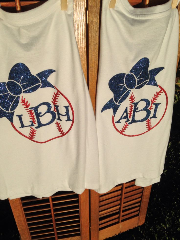 Lillie and Bella are going to be so cute cheering on their big brother in their new baseball sister shirt.  They love the sparkles!!!  #baseballsister #baseball #monogram #makeitminedesigns