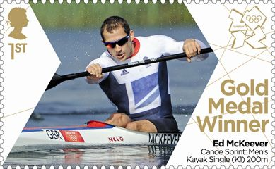 Royal Mail 'Next Day' Gold Medal winner stamps for Team GB - Ed McKeever 200m canoe sprint #London2012 #Olympics