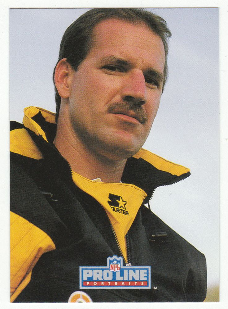 Bill Cowher RC # 414 - 1992 Pro Line Profiles Football - Portraits NFL Rookie