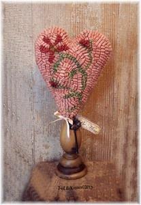 Be Mine Primitive Valentine Heart Original Hand Hooked Wool Rug Make Do | eBay