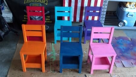 Children's Storage Chair | Do It Yourself Home Projects from Ana White. These have added height