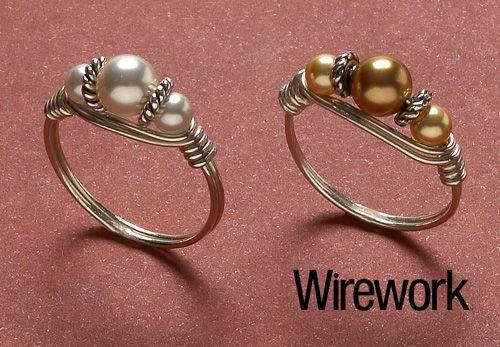 Классический жемчужное кольцо - Бисероплетение & магазин ювелирных изделий