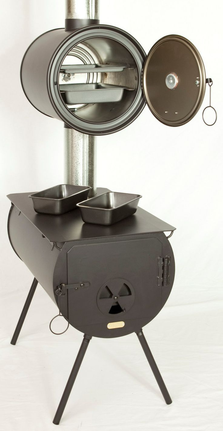 Portable outdoor oven stove camp wood stove with oven for Portable rocket stove plans