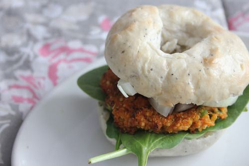 Quinoa Sweet Potato Burger