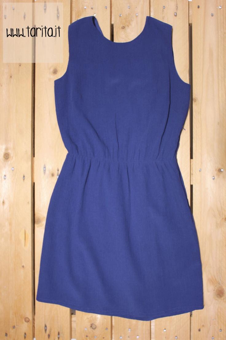 Tarita S/S 2013. Sessùn, bright blue silk dress with open back.