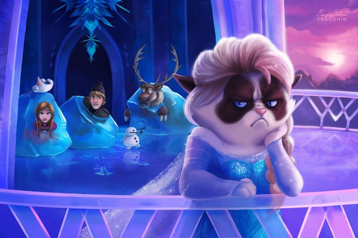 MASHUP: Grumpy Cat in Disneyland Artwork by TsaoShin REST OF THESE IN MY GALLERY THIS ARTIST TOO.