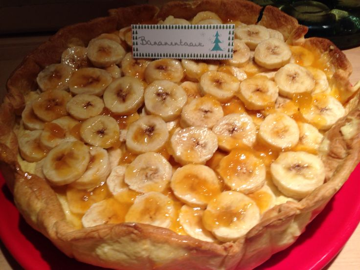 Bananentaart ( recept Piet H)